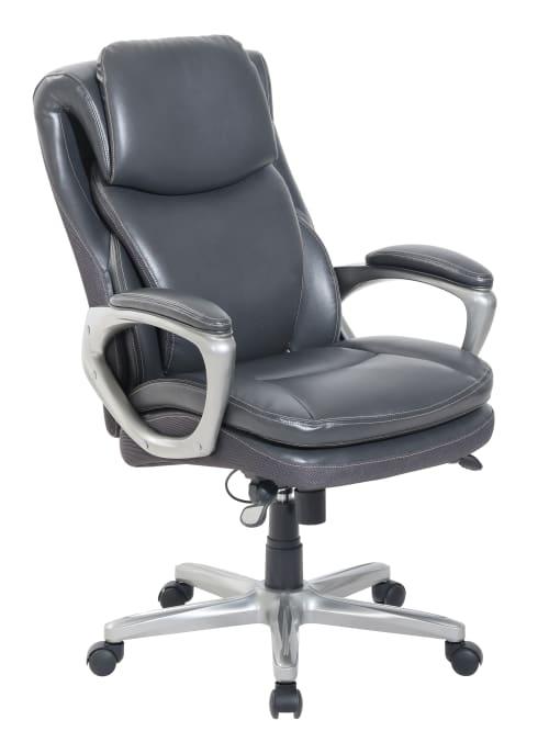 Serta Smartlayers Arlington Chair Dark Gray Office Depot