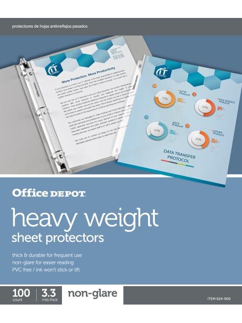 Office Depot Heavy Sheet Protectors 100
