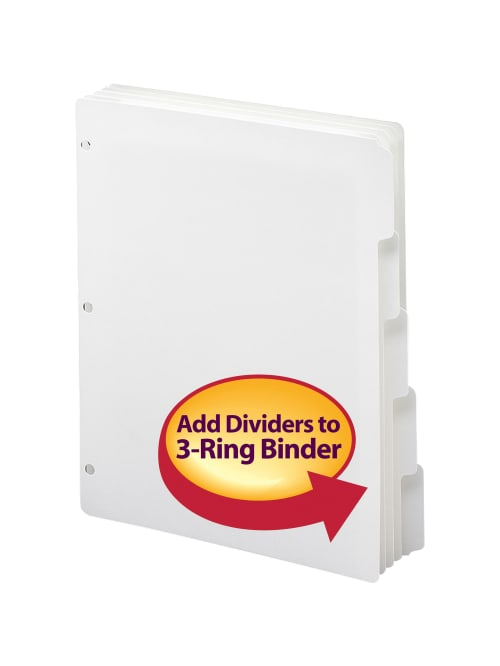 Pack of 6 Sets Basics 3 Ring Binder Dividers with 8 Tabs