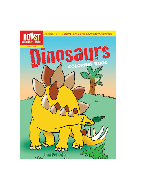 Dover Publications Boost Coloring Book Dinosaurs Grades 1 2 - Office Depot