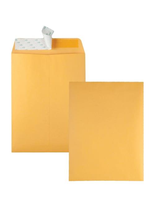 QUA44534 100//Box White Quality Park Redi-Strip Catalog Envelope 9 x 12