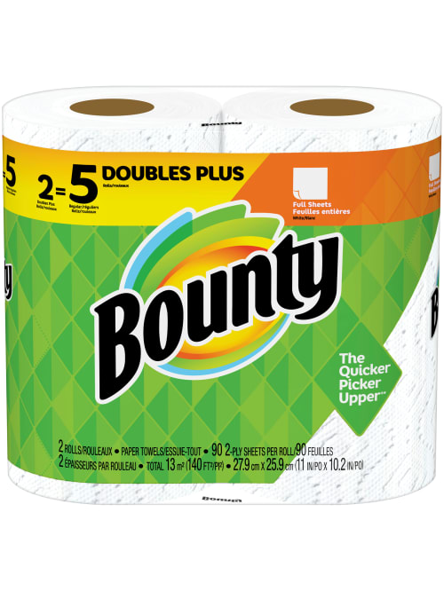 Bounty Huge 2 Ply Paper Towels Pack Of 2 Rolls Office Depot
