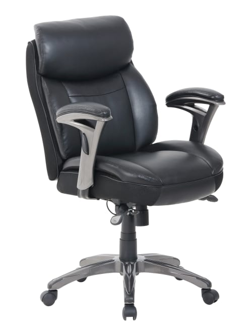 Serta Smart Layers Siena Manager Bonded Leather Mid-Back Chair