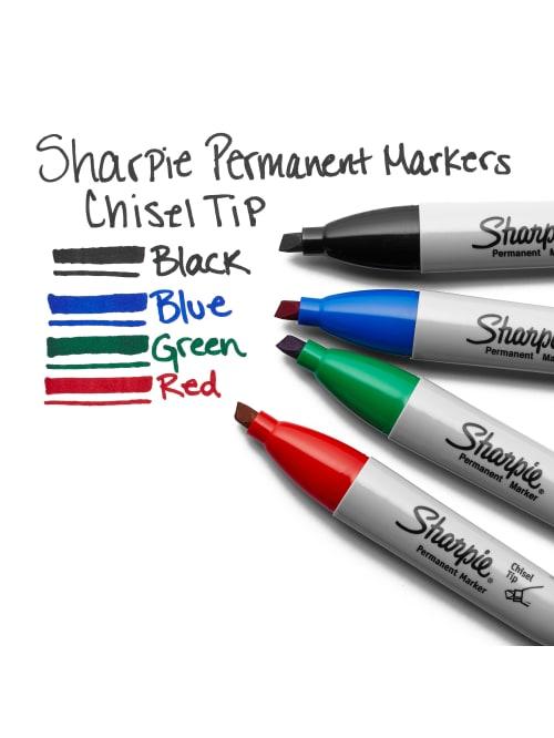 38282 Sharpie Chisel Tip Permanent Marker 2 Boxes of 12 Blue Ink