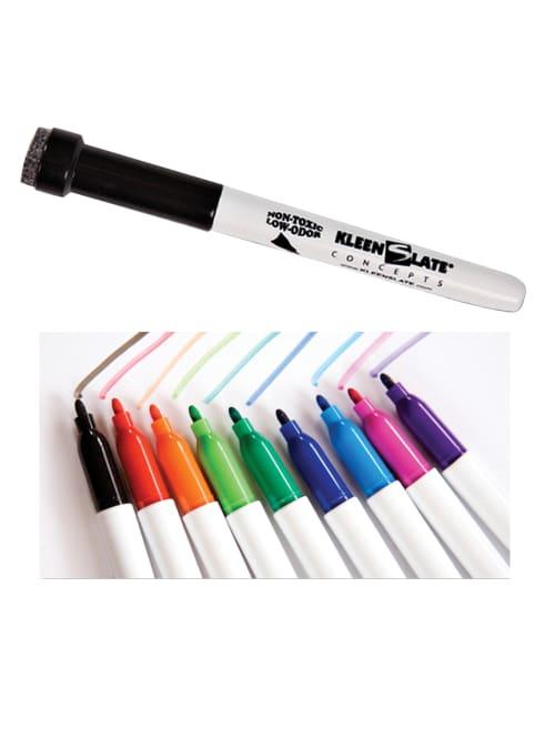 4 Per Pack KleenSlate KLS0832BN Attachable Erasers for Large Barrel Dry Erase Markers 12 Packs