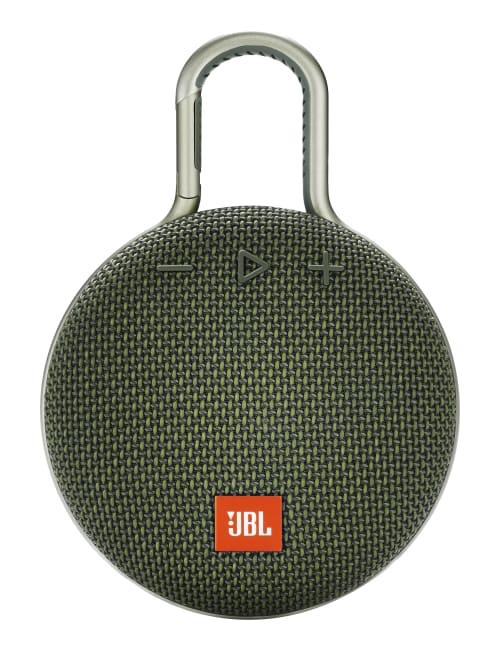 JBL Clip 3 Portable Bluetooth Speaker Green - Office Depot