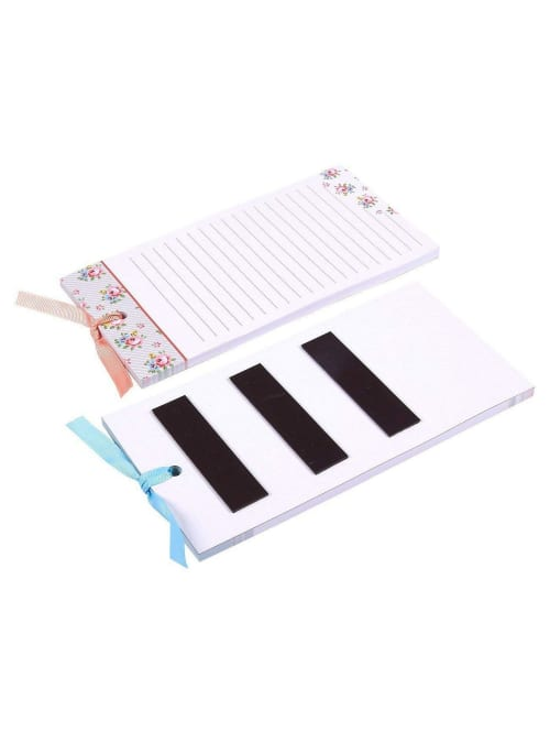 6-Packs Magnetic Notepads Magnetic Notepads. Memo Pad for Shopping Grocery List Magnet House Chores 60 Sheets Per Pad 6-Colors and Designs To-do-List Notepad 6-Pieces Beautiful Magnets Fridge
