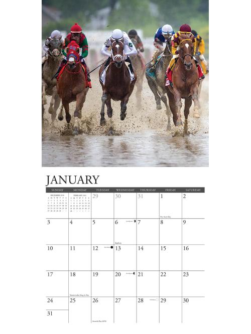 Willow Creek Monthly Calendar Horse Racing   Office Depot