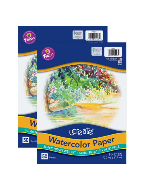 50 Sheets 2 Pack White 9 x 12 UCreate Tracing Pad