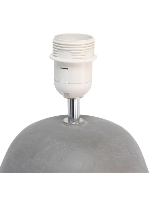Simple Designs Round Table Lamp Blackgray Office Depot