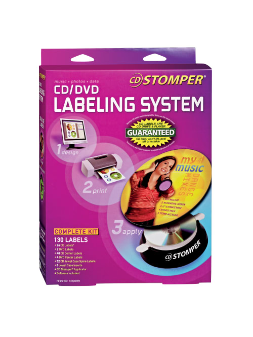 Avery Stomper Pro Inkjetlaser Cd Label Kit 98107 Office Depot