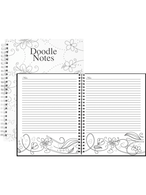 7x9-Inch HOD78097 Whimsical Doodle Color House of Doolittle Notebook