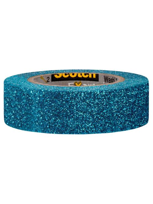 Scotch Brand Expressions Glitter Tape 0.59 x 196 6 Rolls C514-BLU Teal Blue