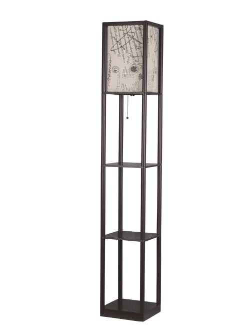 Shelf Floor Lamp 62 H Scriptbrown, Floor Lamp With Shelves Ikea