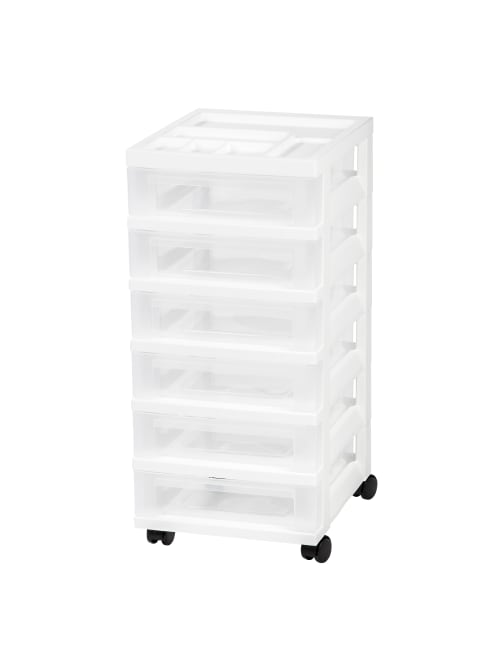 Iris Rolling Plastic Storage Cart 6