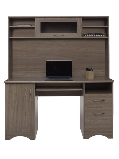 Realspace Pelingo 56 W Desk With Hutch, Hutch Office Desk