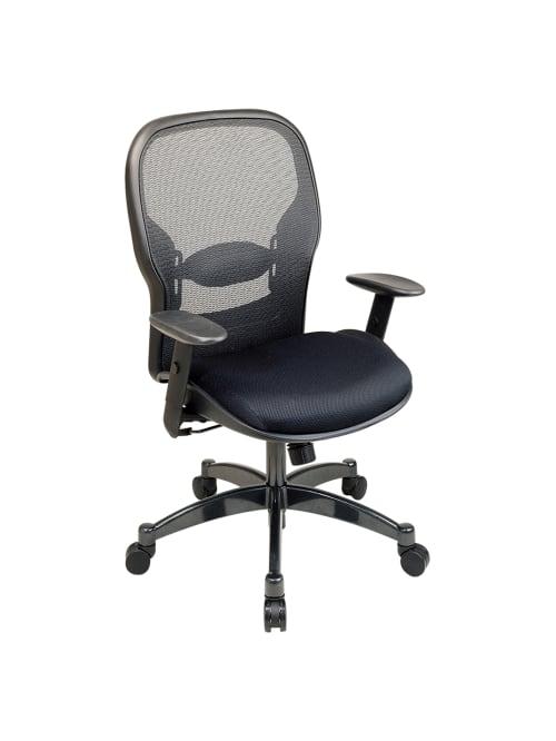 Office Star Professional Matrex Mesh Chair 46 14 H X 27 14 W X 25 34 D Blackgunmetal Office Depot