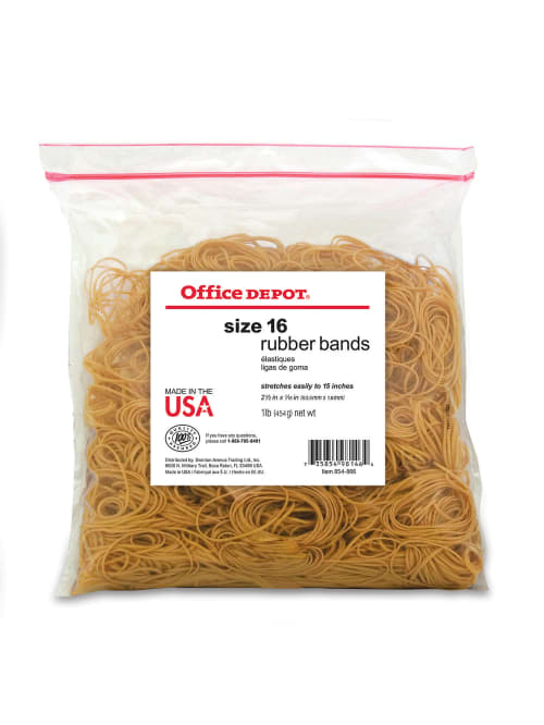 1//2 Pound  Bags of Multi-Color Assorted Sizes Rubber Bands Home Office