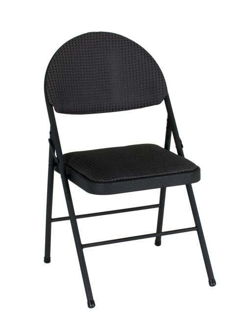 Cosco Xl Comfort Folding Chairs Black Set Of 4 Office Depot