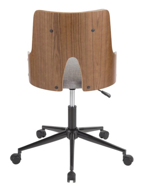 Umisource Stella Office Chair Greywalnut Office Depot