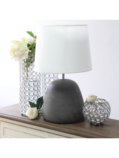 Simple Designs Table Lamp 16 12 Whitegray Office Depot