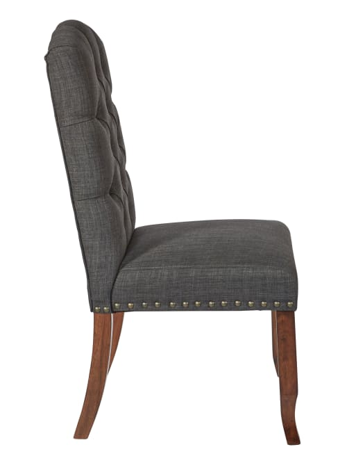 Ave Six Jessica Tufted Dining Chair Charcoalespresso Office Depot