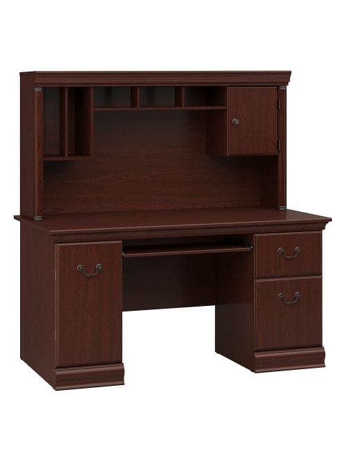 Bush Furniture Birmingham Office Desk, Hutch Office Desk