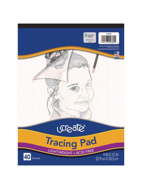 10 Pads 40 Sheets Per Pad Translucent Pacon Art Street Tracing Paper Pad 9 x 12