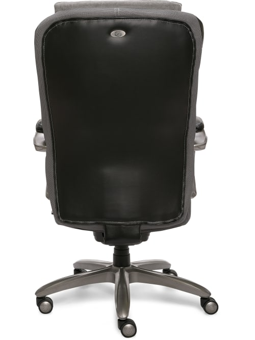 Serta Big And Tall Smart Layers Blissfully Bonded Leather High Back Chair Blackgray Office Depot