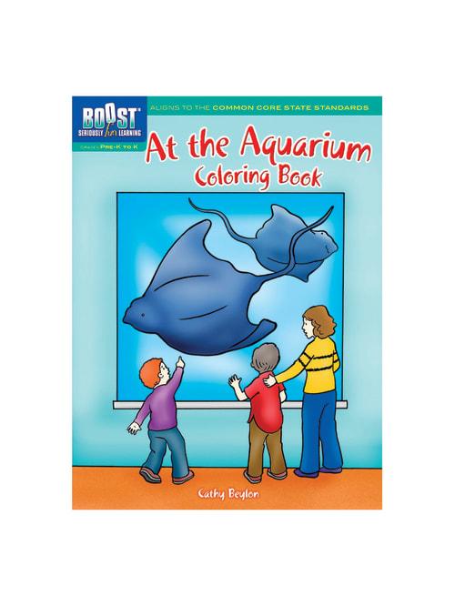 Dover Publications Boost Coloring Book At The Aquarium Grades Pre K K -  Office Depot