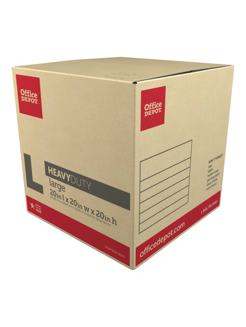 """20/""""L x 20/""""W x 20/""""H Pack Of 10 Kraft Office Depot Brand Corrugated Boxes"""