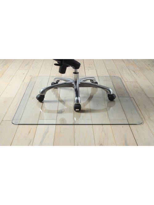 Lorell Tempered Gl Chair Mat 48 X 60