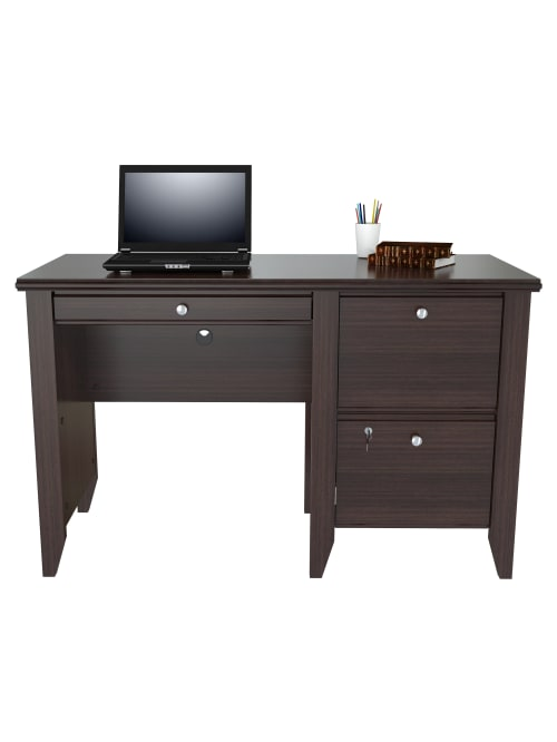 Inval Sherbrook Computerwriting Desk, Desk With Locking Drawers