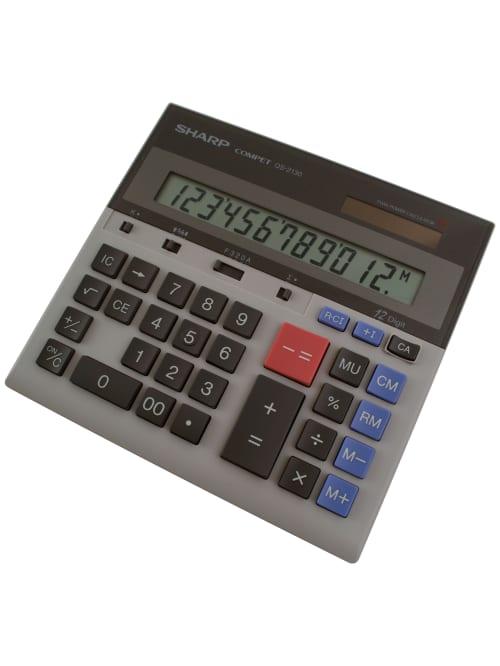 Sharp Qs 2130 12 Digit Dual Power Desktop Calculator Office Depot