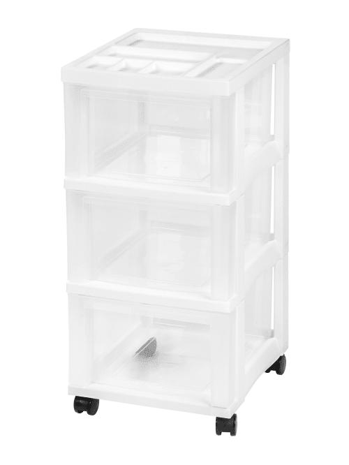 Iris Rolling Plastic Storage Cart 3
