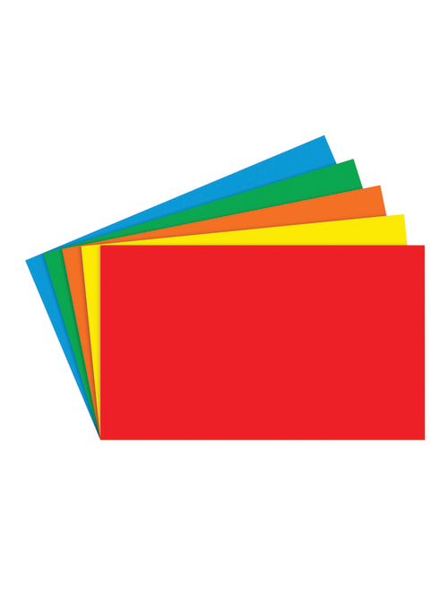 100 Count Primary Assorted 3 x 5 Top Notch Teacher Products Blank Index Cards