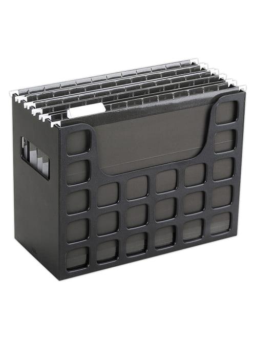 Oxford Decoflex File Holder 9 12 H X, Desktop File Storage Box