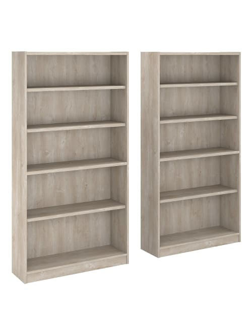 Bush Furniture 5 Shelf Bookcase W Gray