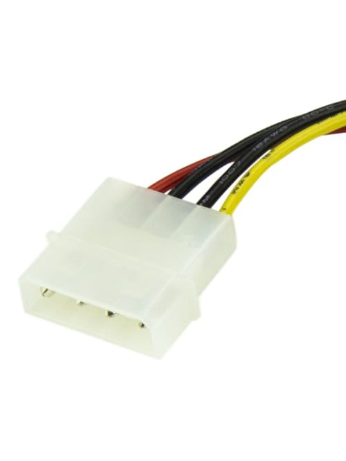 2 Quantity 6inch 4 Pin Molex to SATA Power Cable Adapter