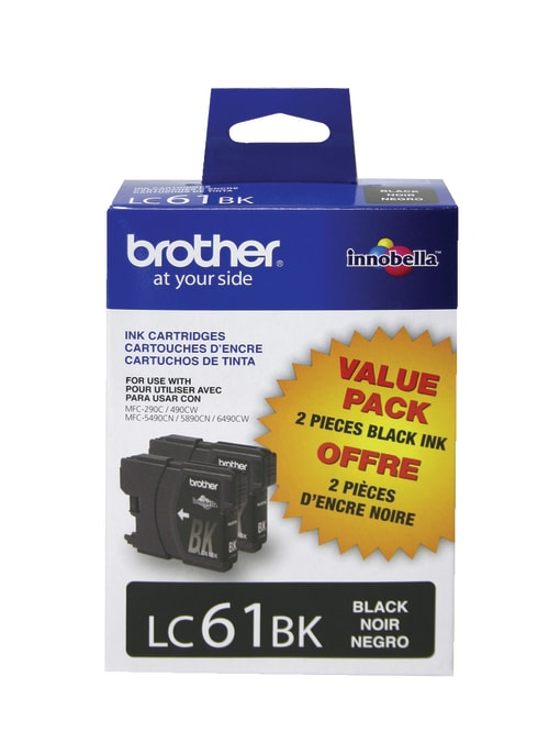 450 Yield Brother LC61BK Black Original Ink Standard Yield