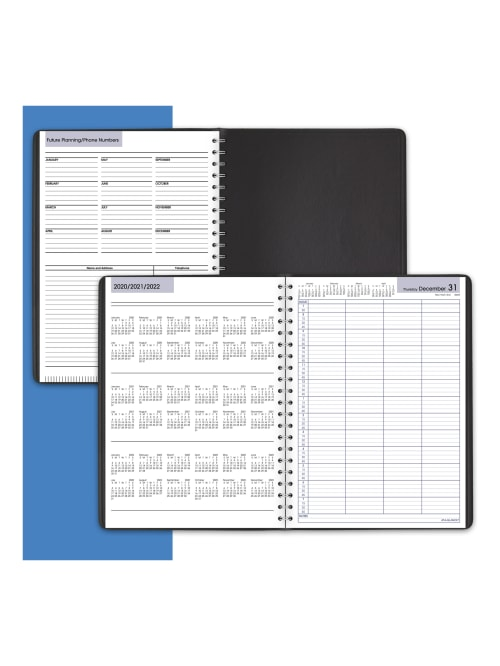 Black DayMinder 2021 Four Person Group Daily Appointment Book by AT-A-GLANCE 8 x 11 G5600021 Large