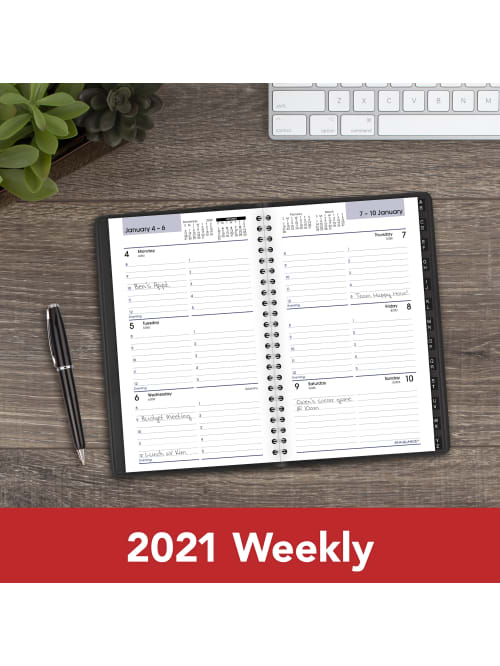 G21000 Black 5-1//2 x 8-1//2 AT-A-GLANCE 2020 Weekly Planner//Appointment Book Small DayMinder