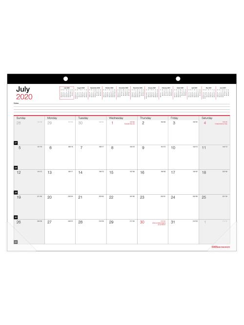 Office Depot Monthly Academic Desk Calendar 22 x 17 30percent