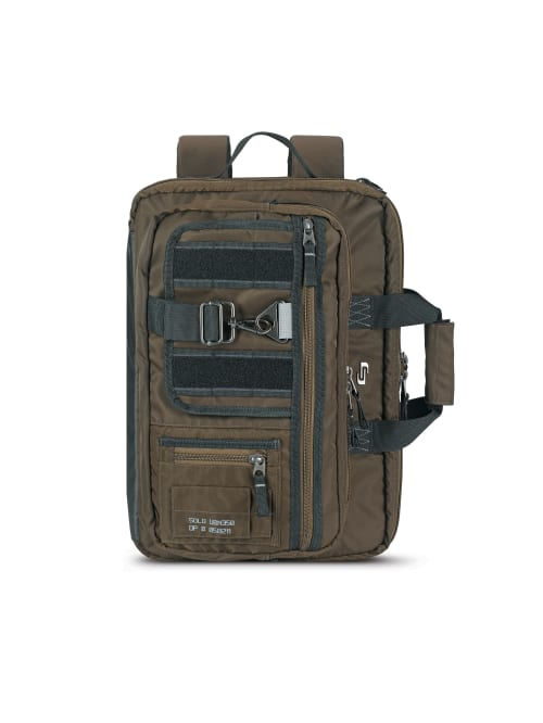Solo Zone Hybrid Briefcase With 15 6 Laptop Pocket 12 H X 17 W X 3 D Khaki Office Depot