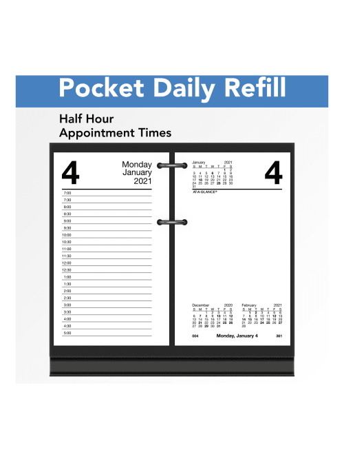 Loose-Leaf 2021 Daily Desk Calendar Refill by AT-A-GLANCE E7175021 3-1//2 x 6