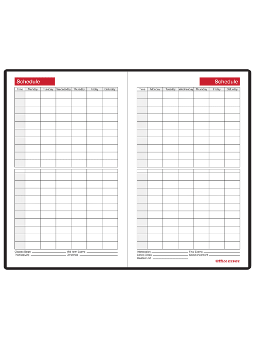 "30/% Recycled 5/"" x 8/"" Office Depot Weekly//Monthly Academic Planner Jul Black"