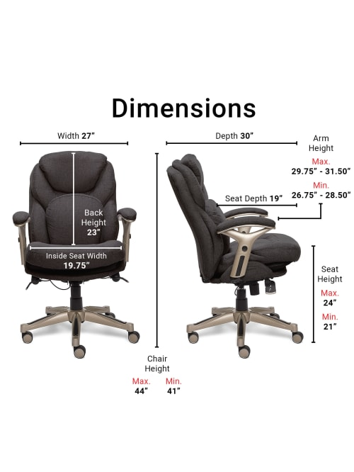 Serta Works Mid Back Office Chair With Back In Motion Technology Fabric Dark Graysilver Office Depot
