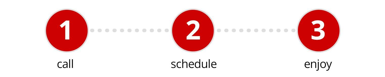 call, schedule, enjoy