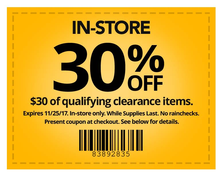 In-store Coupon