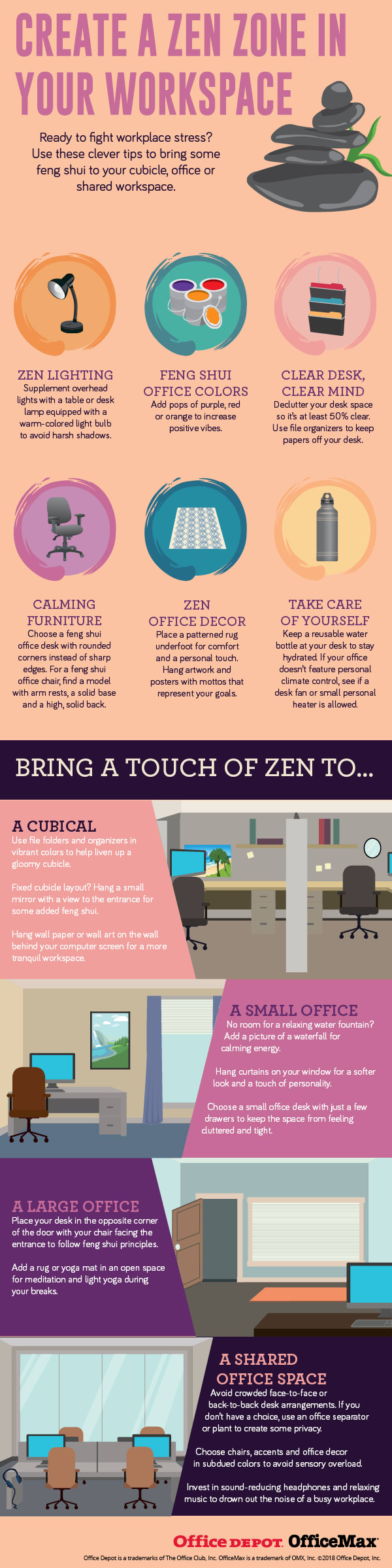 Create a Zen Zone in Your Workspace Infographic